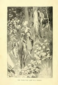 """""""The Trail was Lost in a Gully,"""" by E. M. Ashe, in Seton-Thompson, 104."""